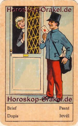 Horoskop der Brief